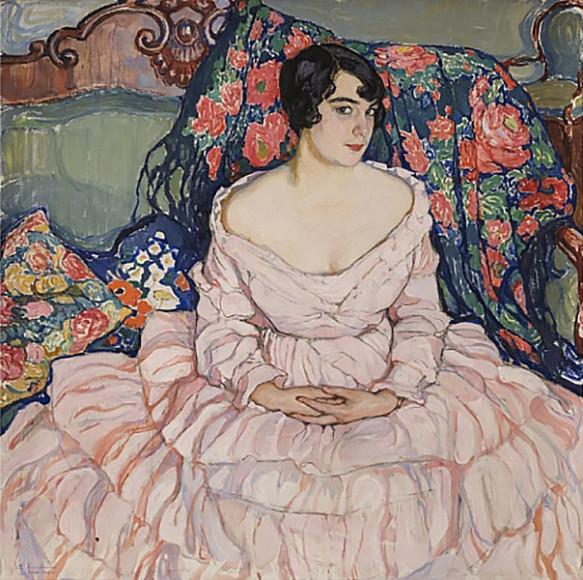 Елена Киселева. «Портрет Любови Бродской», 1916