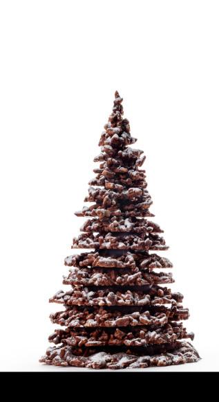 Новогодняя ель из молочного или горького шоколада Patrick Roger, 12300 руб. (patrickroger.shop)