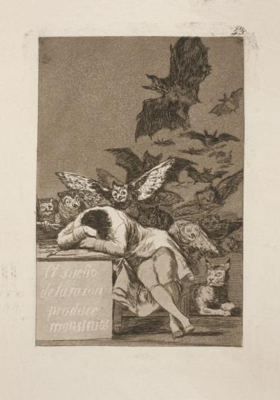 Франсиско Гойя. «Сон разума рождает чудовищ», 1799