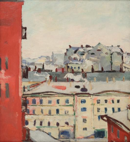 Константин Истомин. «Вид из окна», конец 1920 - начало 1930