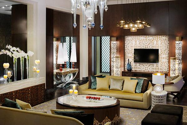 Гостиная в сьюте Grand в отеле One&Only The Palm (Дубай)