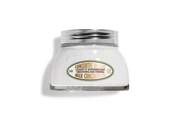 Молочко для упругости кожи тела «Миндальное», L'Occitane состоит из миндальных протеинов, кремния и экстракта ореха, которые повышают эластичность и упругость кожи, а также питают и смягчают ее