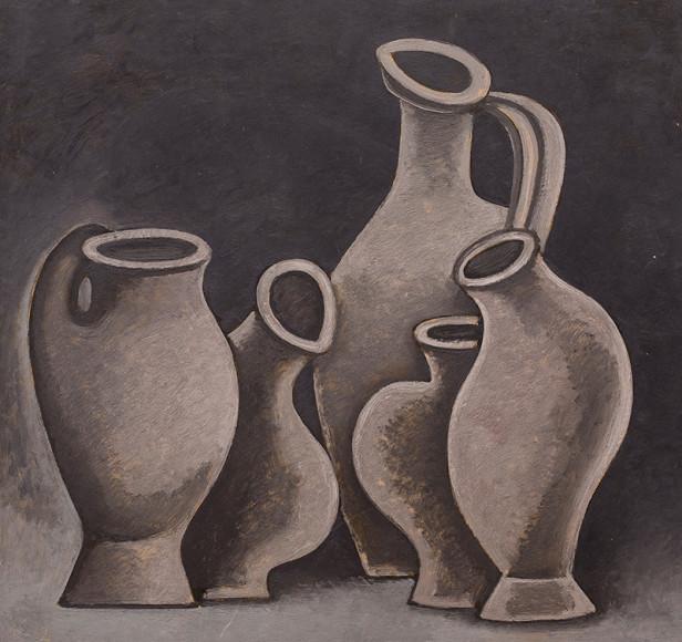 Дмитрий Краснопевцев. Кувшины. Холст/масло, 1962 г.