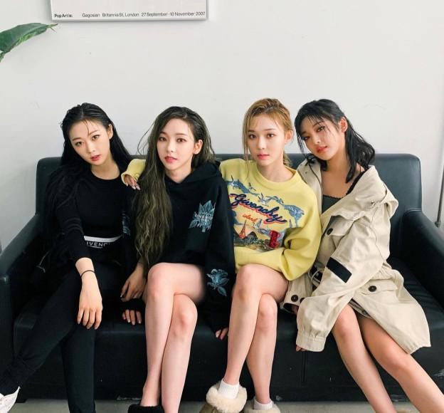 Группа Aespa в Givenchy, январь 2021