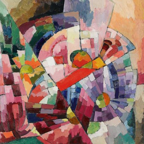 Платок по мотивам полотна«Астры» Аристарха Лентулова