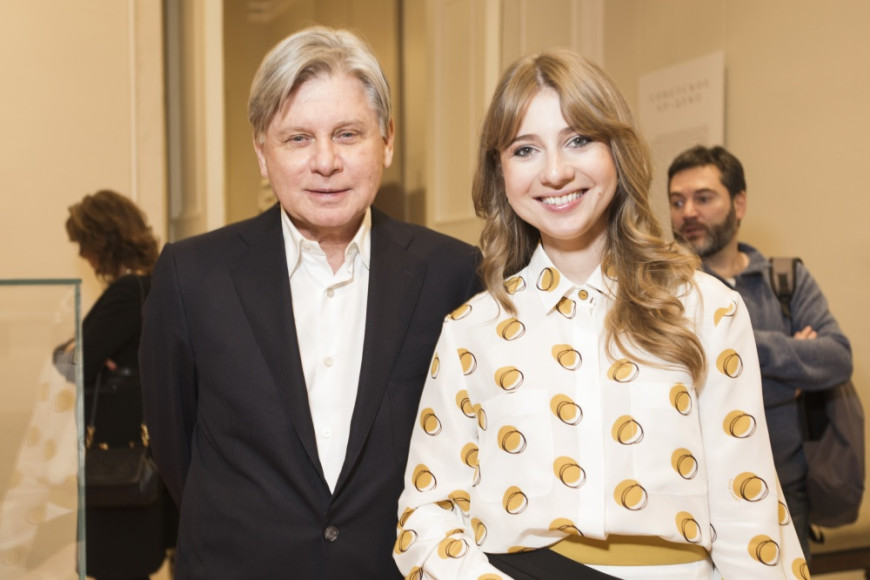 Виктор Бондаренко, колликционер, Кристина Краснянская , владелица галереи Эритаж