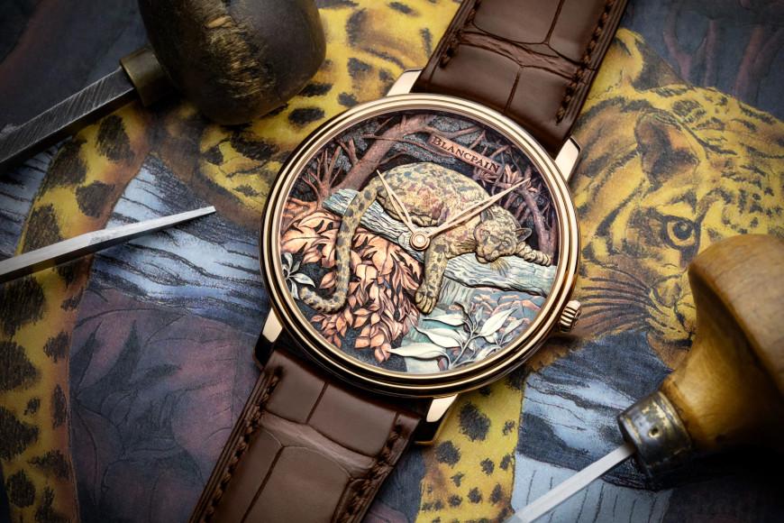 Часы Metiers d'Art Formosa Clouded Leopard в технике гравировки, дамаскинажа и сякудо, Blancpain