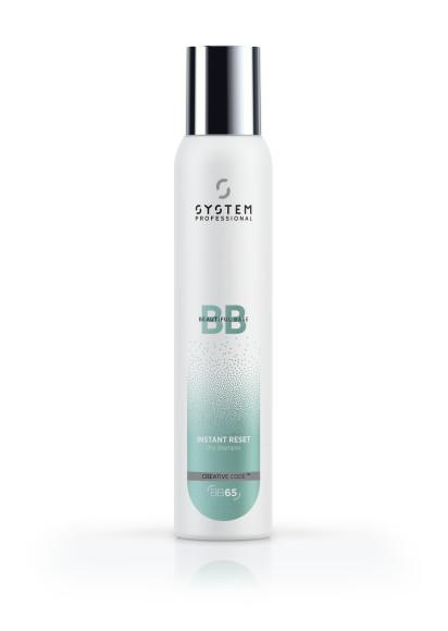 Сухой шампунь BB65 Instant reset, System Professional придаст свежесть укладке и естественный объем волосам. Средство мягко воздействует на кожу головы, не перегружая волосы