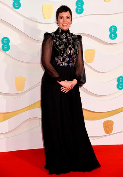 Оливия Колман в Alexander McQueen на церемонии BAFTA