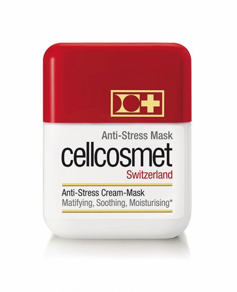 Маска Anti-Stress Mask, Cellcosmet умеет все: очищает и сужает поры, нормализует работу сальных желез, насыщает кожу влагой, успокаивает, выравнивает мелкие морщинки, обеспечивает ощутимый лифтинг-эффект, а такжевозвращает коже сияние и упругость.