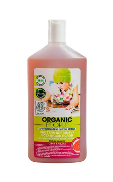 Экогель для мытья всех видов полов, Organic People