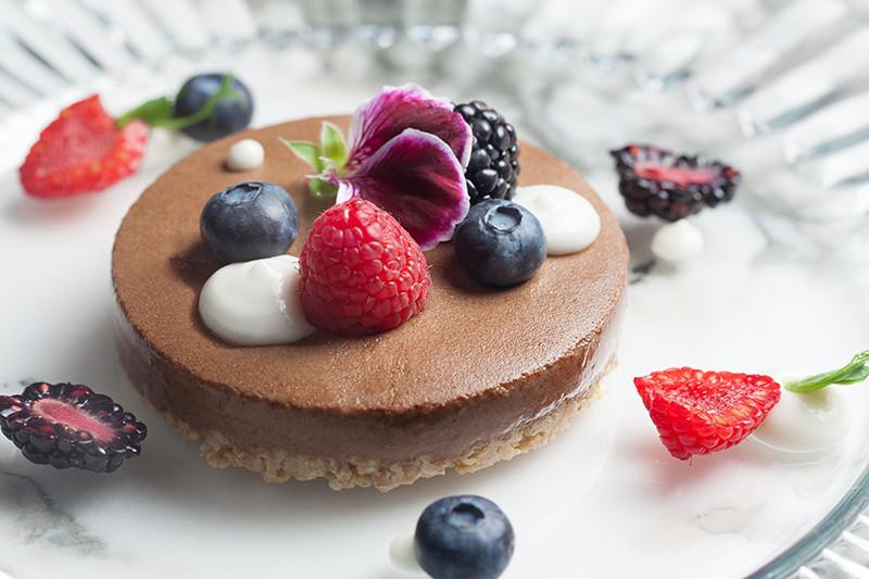 Пирог с бананово-шоколадным мороженым