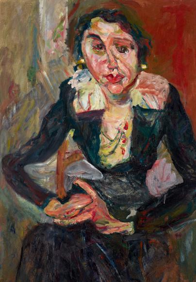 Хаим Сутин. «Зеленое платье»,1920–1921