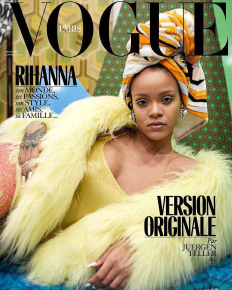 Рианна на декабрьской обложке французского Vogue, 2017
