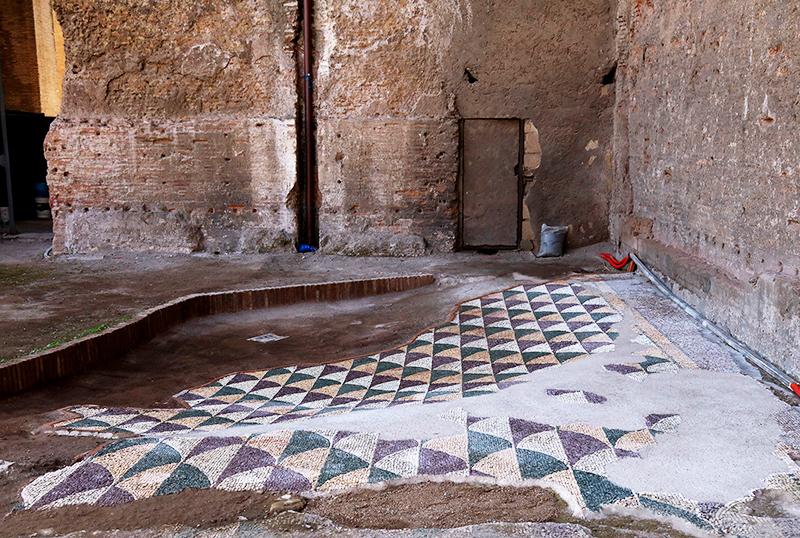 Состояние мозаики до реставрации