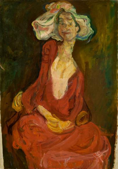 Хаим Сутин. «Большая шляпа»,1923–1924