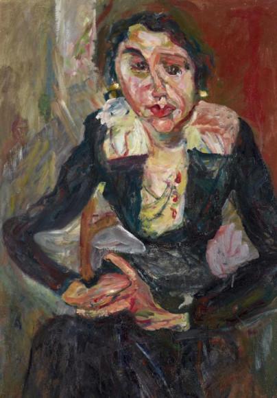 Хаим Сутин. «Зеленое платье», 1920–1921