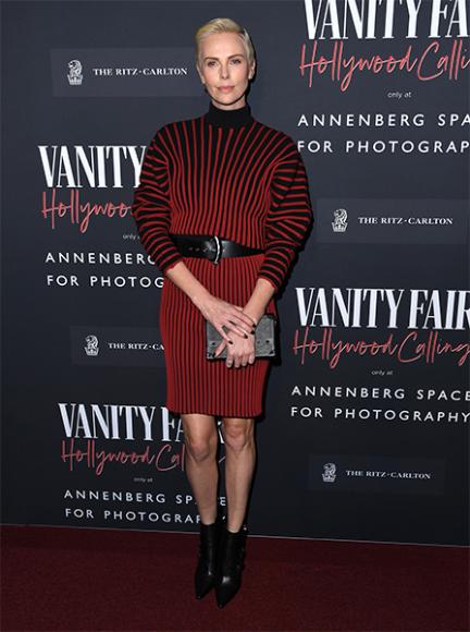 Шарлиз Терон в платье Louis Vuitton на вечере Hollywood Calling