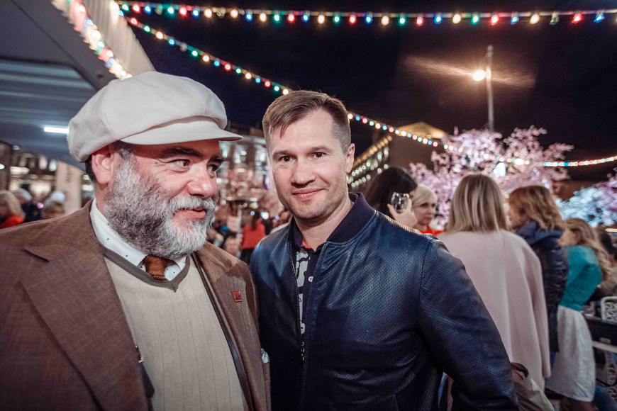 Глава Bosco di Ciliegi Михаил Куснирович и олимпийский чемпион Алексей Немов