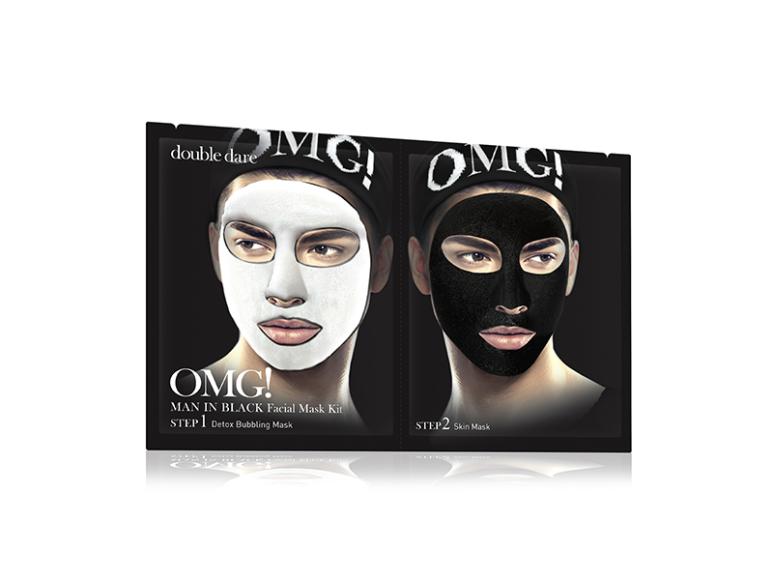 Комплекс мужских масок двухкомпонентный «Детокс», Double Dare