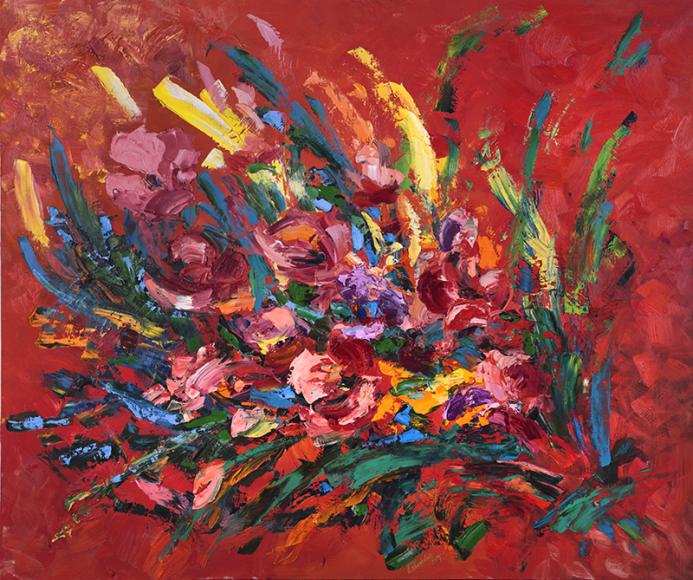 «Букет на красном», 2017