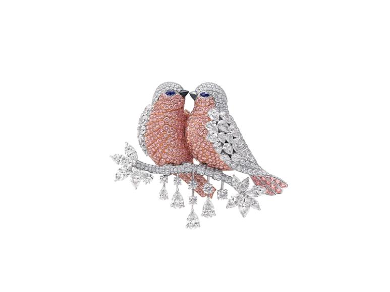 Брошь Lovebirds, Graff