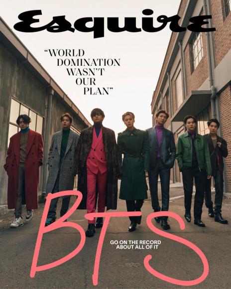 Группа BTS в Berluti и Givenchy на обложке американского Esquire, декабрь 2020