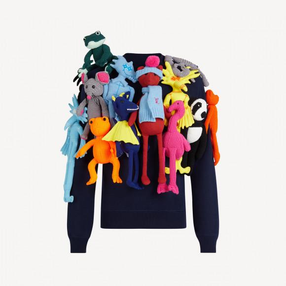 Пуловер Louis Vutton с игрушками
