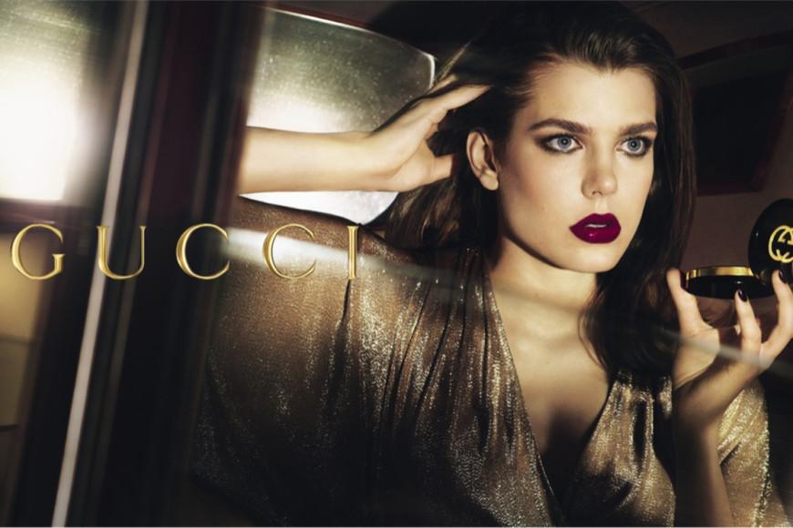 Шарлотта Казираги в рекламной кампании Gucci Cosmetics, 2014