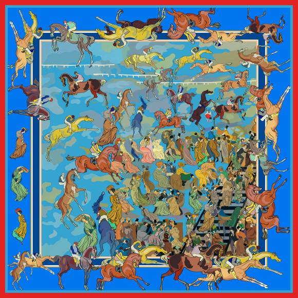 Скачки» Георгия Якулована платке Radical Chic