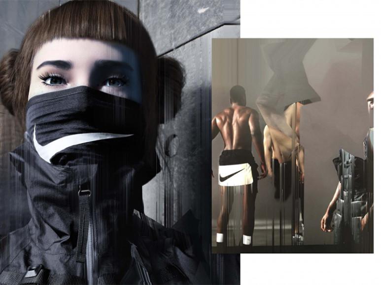 Рекламная кампания Nike с участием виртуальной модели Лил Микелы, созданная Ником Найтом с использованием Glitché