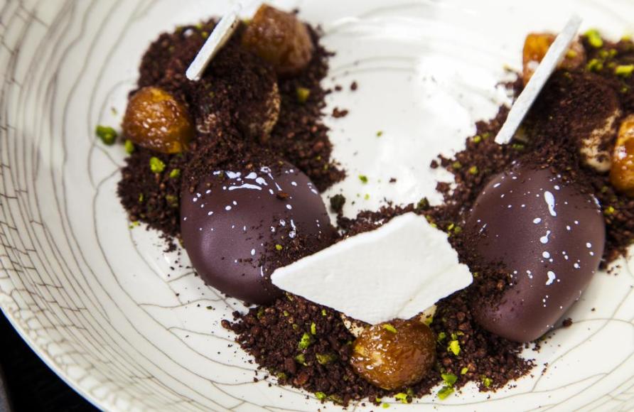 Осенние каштаны с шоколадом и мадагаскарской ванилью