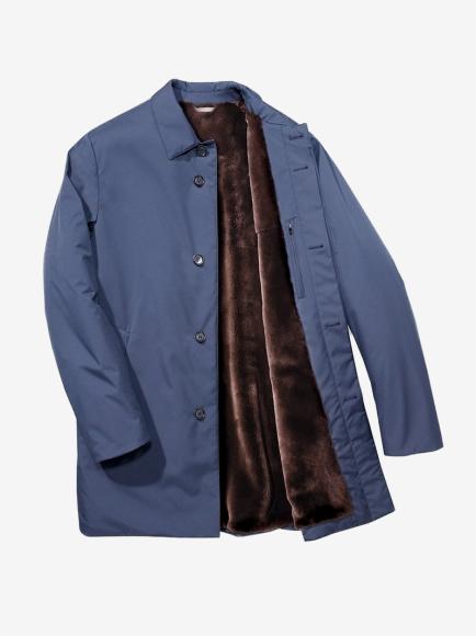Пальто из ткани Wind с мембраной Storm System® с подкладкой из меха нутрии