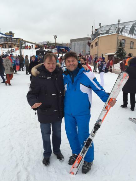 Игорь Бутман и Сергей Белоголовцев, основатель программы Лыжи мечты