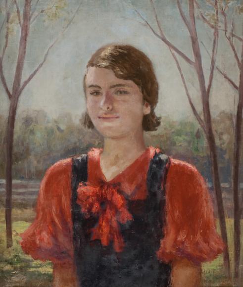Самуил Адливанкин. «Девочка в красной кофте», 1937