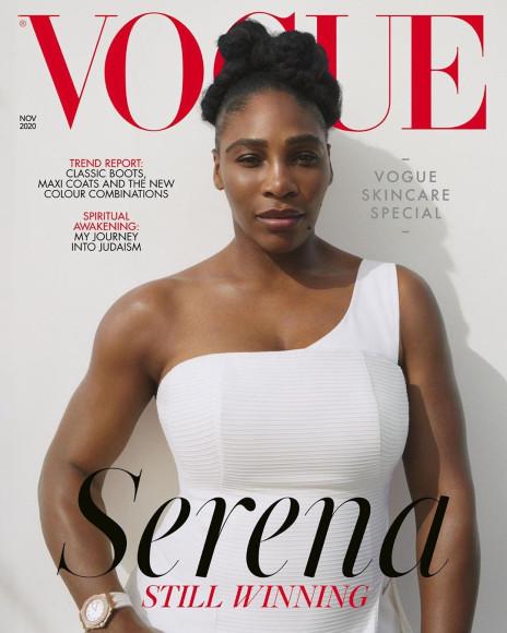 Серена Уильямс на обложке британского Vogue, ноябрь 2020
