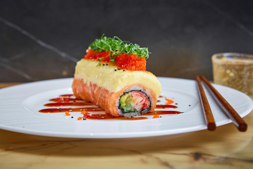 Ролл Fumisawa с лососем