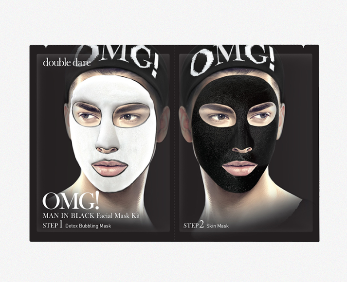 Мужская детокс-маска для лица OMG! Man in Black, Double Dare