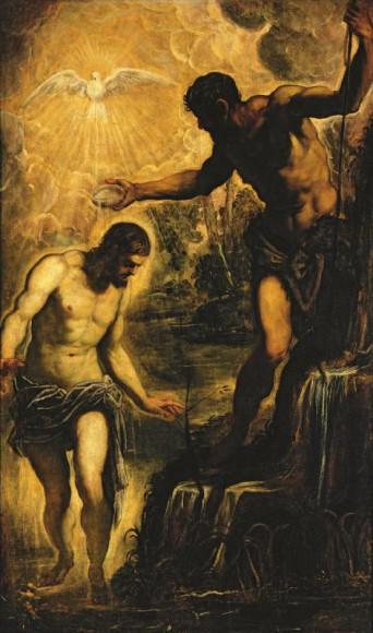 Якопо Робусти, прозванный Тинторетто (около 1518 – 1594). Крещение Христа. Около 1580. Холст, масло. Венеция (Сан Поло), церковь Сан Сильвестро.