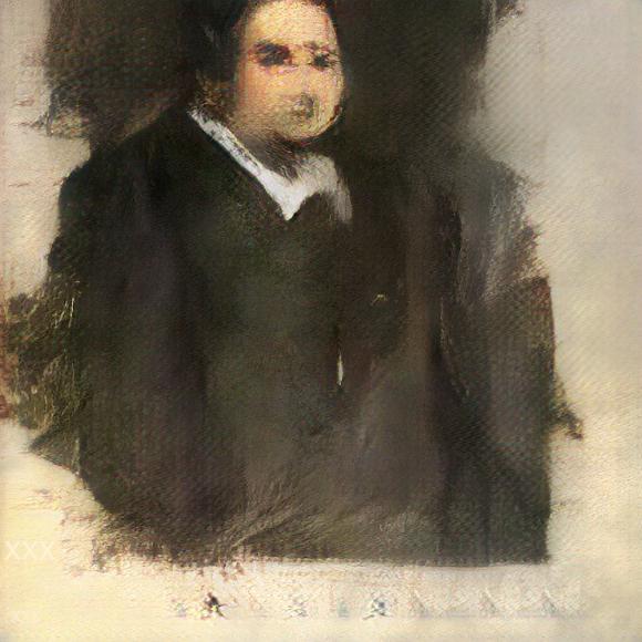 Серия портретов, автором которых выступает алгоритм GAN. Портрет Эдварда де Белами