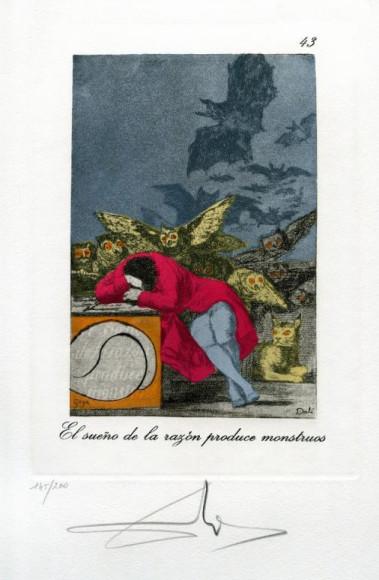 СальвадорДали. Гравюра «Сон разума рождает чудовищ», 1977