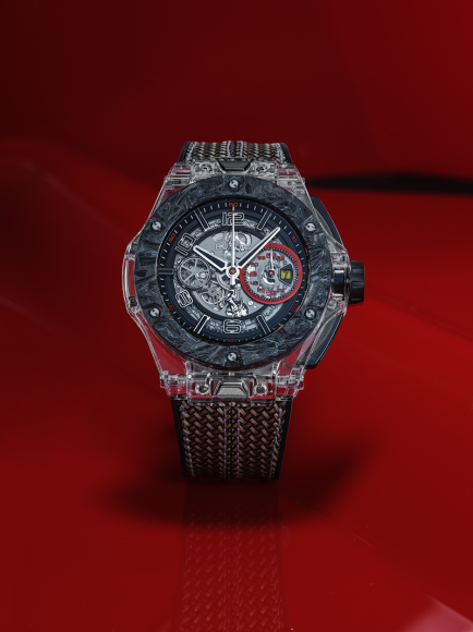 Часы Big Bang Scuderia Ferrari 90th Anniversary с корпусом из сапфирового стекла