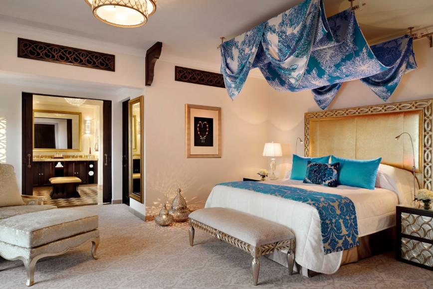 Спальня в сьюте Prince, отель Arabian Court, One&Only Royal Mirage (Дубай)