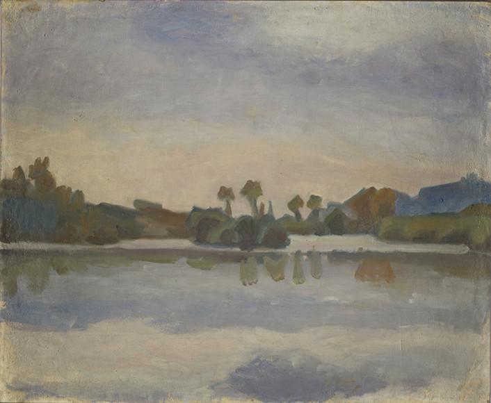 Ivan Aguéli, Motiv från Touraine Frankrike, 1913