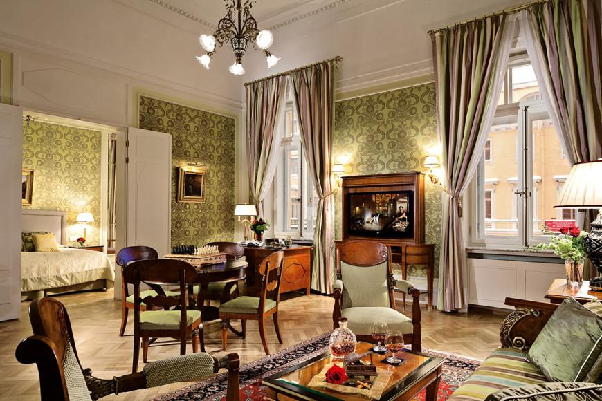 Апартаменты «Стравинский» в Гранд Отеле Европа в Санкт-Петербурге