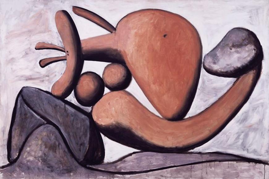 Пабло Пикассо. «Женщина, бросающая камень», 1931