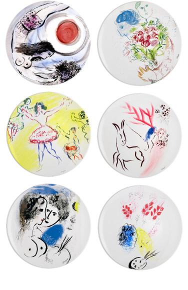 Набор тарелок Marc Chagall Bernardaud
