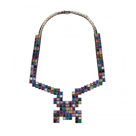 Колье Random, Solange Azagury-Partridge (золото, бриллианты, изумруды, аметисты, сапфиры, шпинели и рубины)