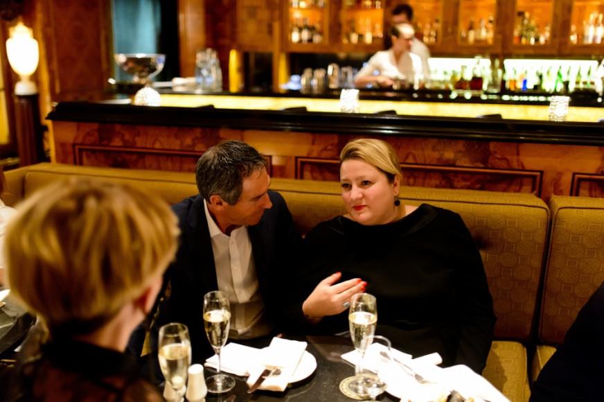 Глава Auidi в России Ахим Заурер и главный редактор Glamour Мария Федорова