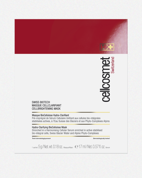 Биотехнологическая корректирующая тон кожи клеточная маска Swiss Biotech Cellbrightening Mask, Cellcosmet